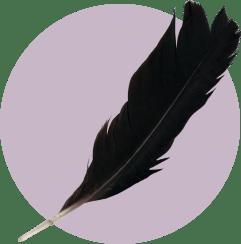 черное перо