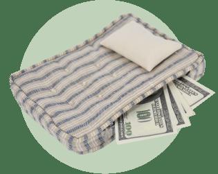 матрас деньги