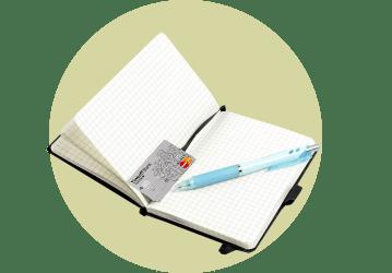 Ежедневник с кредиткой вместо закладки