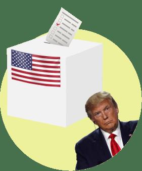 Трамп с недоверием смотрит на избирательную урну
