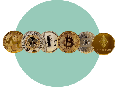 Биткоин, Monero, Z-cash, Ethereum, Litecoin, Bitcoin-cash, Dogecoin и другие