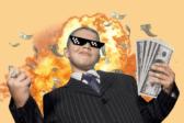 школьник деньги огонь
