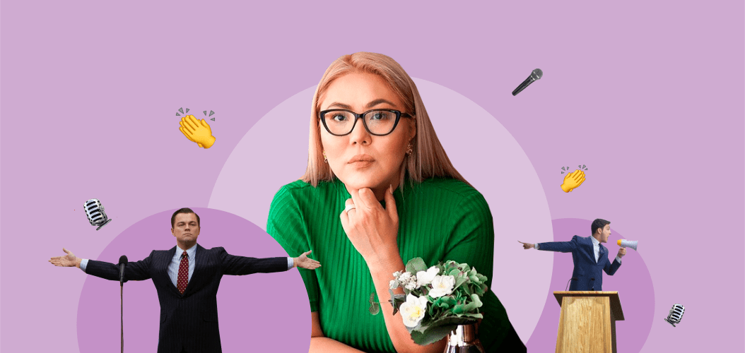 Людмила Шналиева, микрофон, трибуна, аплодисменты выступение