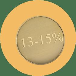 "монета номиналом ""13-15 процентов"""
