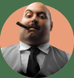 Усатый мужчина с сигарой в зубах