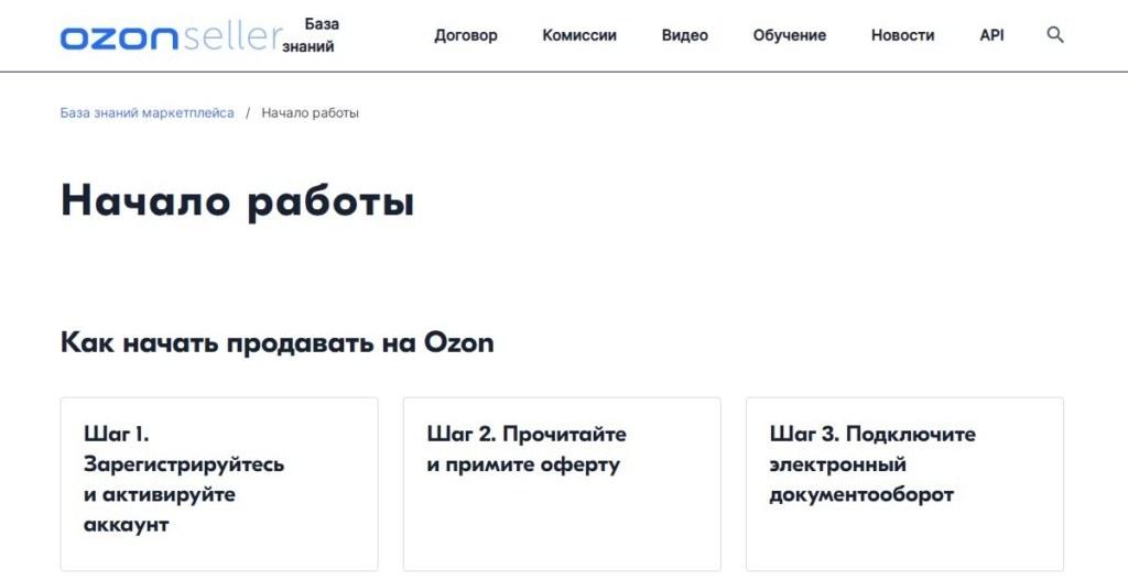 OZON маркетплейс