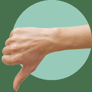 большой палец вниз