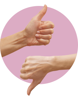 палец вверх палец вниз