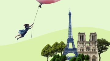 Париж девушка фанера над Парижем