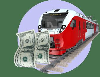 поезд деньги