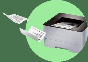 документы вылетают из принтера