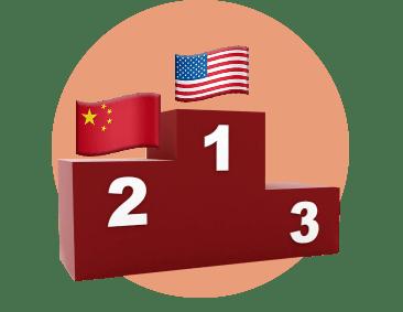 пьедестал Америка Китай