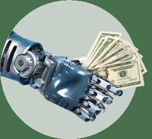 робот деньги