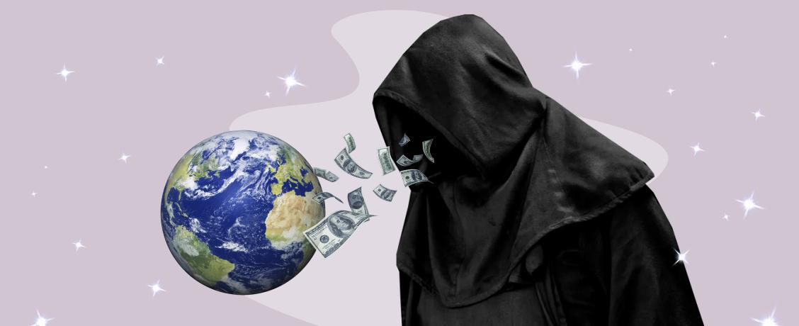 теории заговора черная мантия деньги планета земля