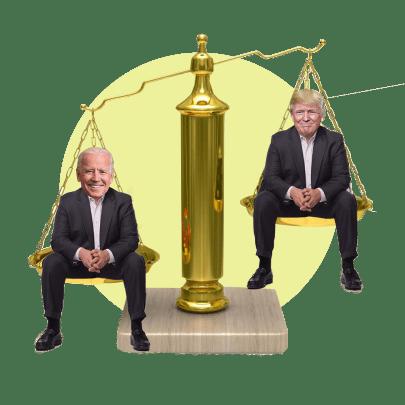 весы трамп байден