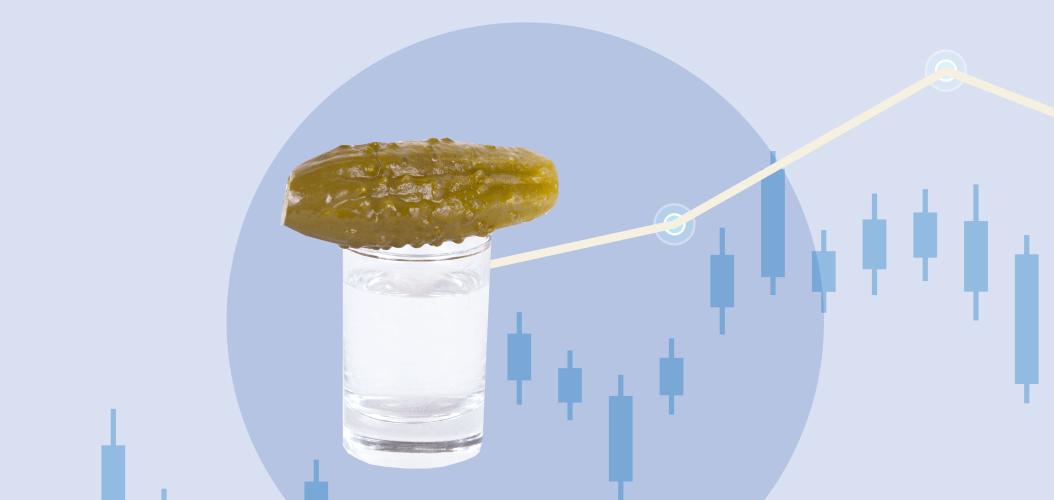 водка соленый огурец график
