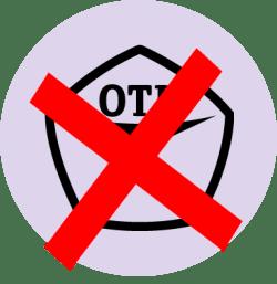 знак качества (ОТК) перечеркнутый крест-накрест