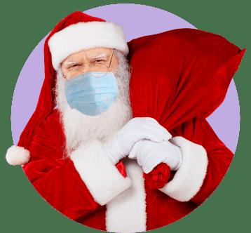 Дед Мороз с антителами от вирусов