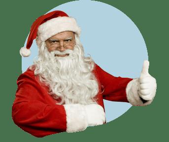 Дед Мороз показывает класс
