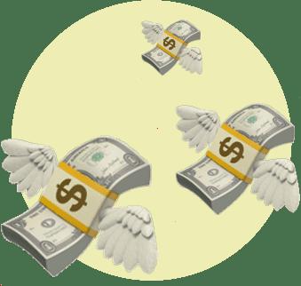 Деньги улетают в далекое далёко