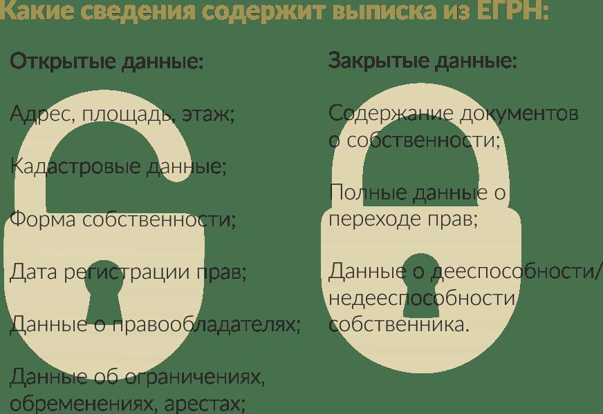 Какие сведения содержит выписка из ЕГРН