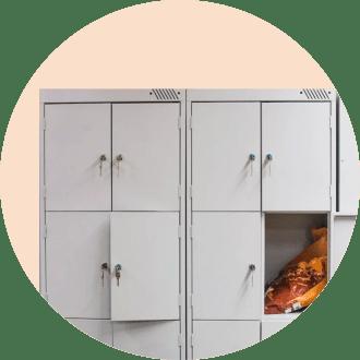 Шкафчики для вещей
