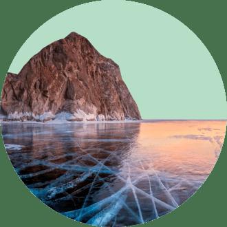 На голубые льды озера Байкал