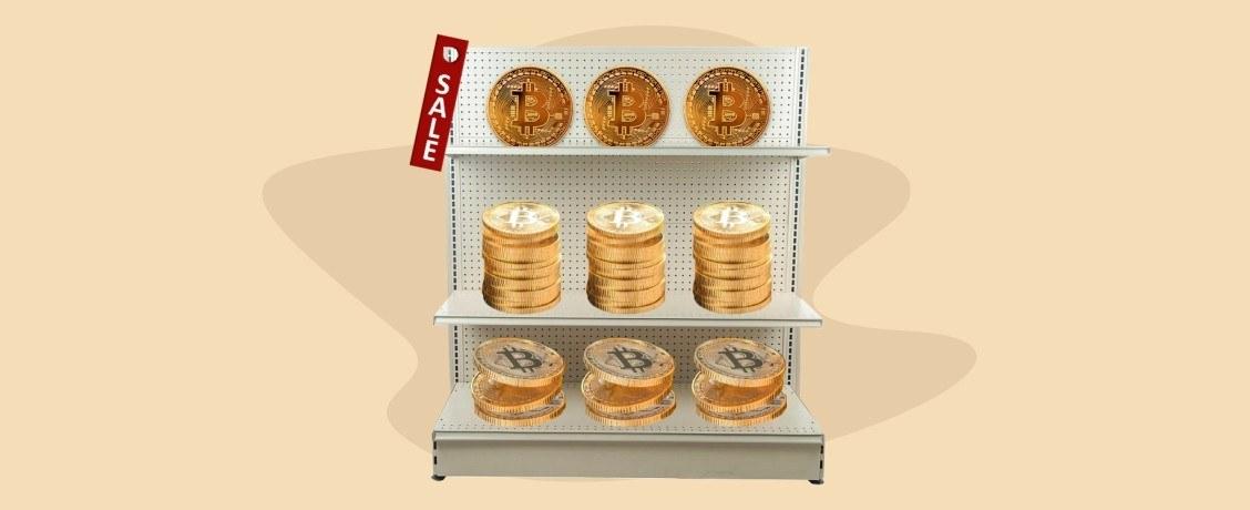 Распродажа биткоинов