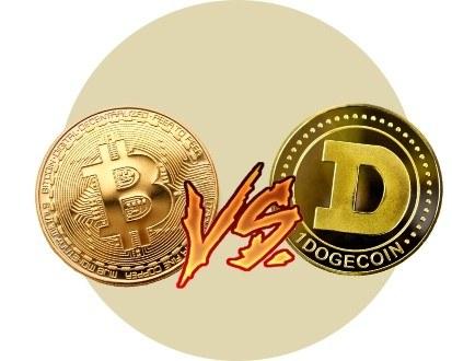 Dogecoin и биткоин